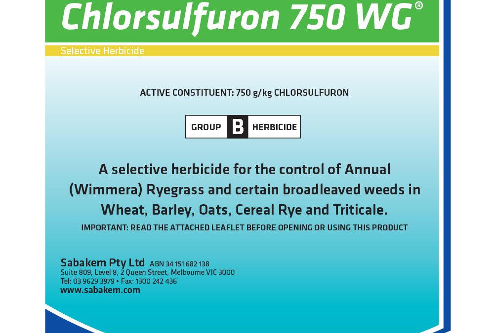 Chlorsulfuron 750WG