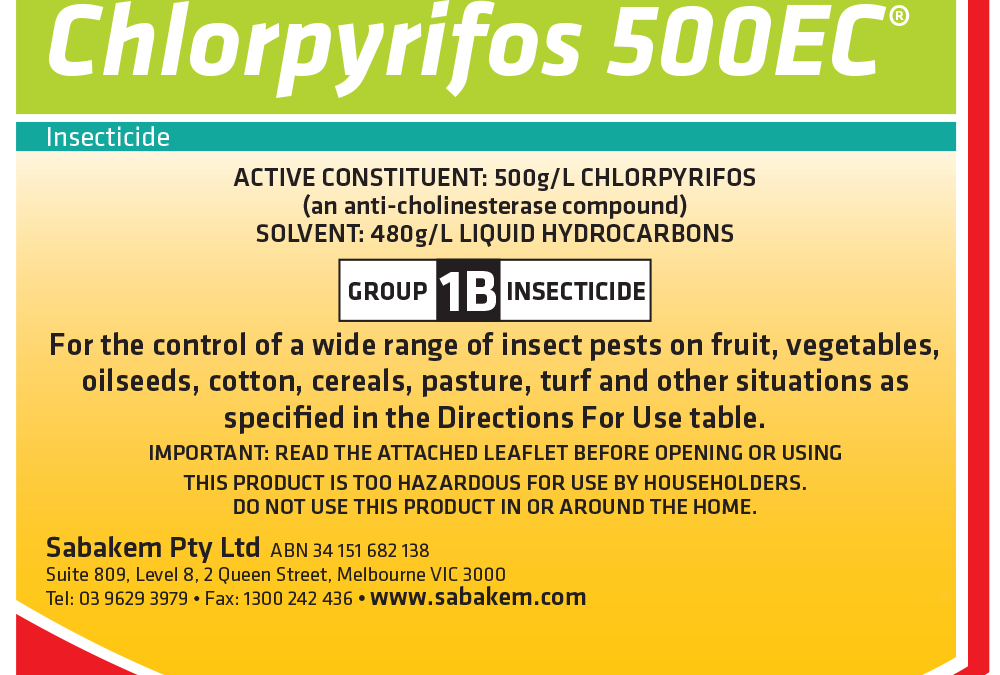 Chlorpyrifos 500EC