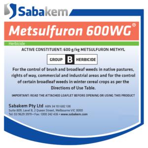 Metsulfuron 600WG