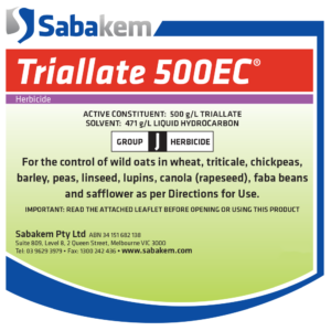 Triallate 500EC